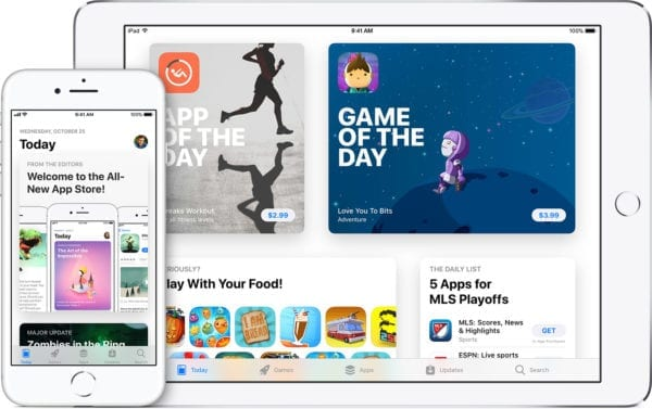 ios11 iphone8 ipad app store hero 600x377 - iOS 12 a macOS 10.14 budú podporovať univerzálne aplikácie pre Mac, iPhone aj iPad