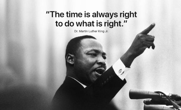 mlk apple web 2018 600x366 - Apple si opäť uctil pamiatku Martina Luthera Kinga Jr.