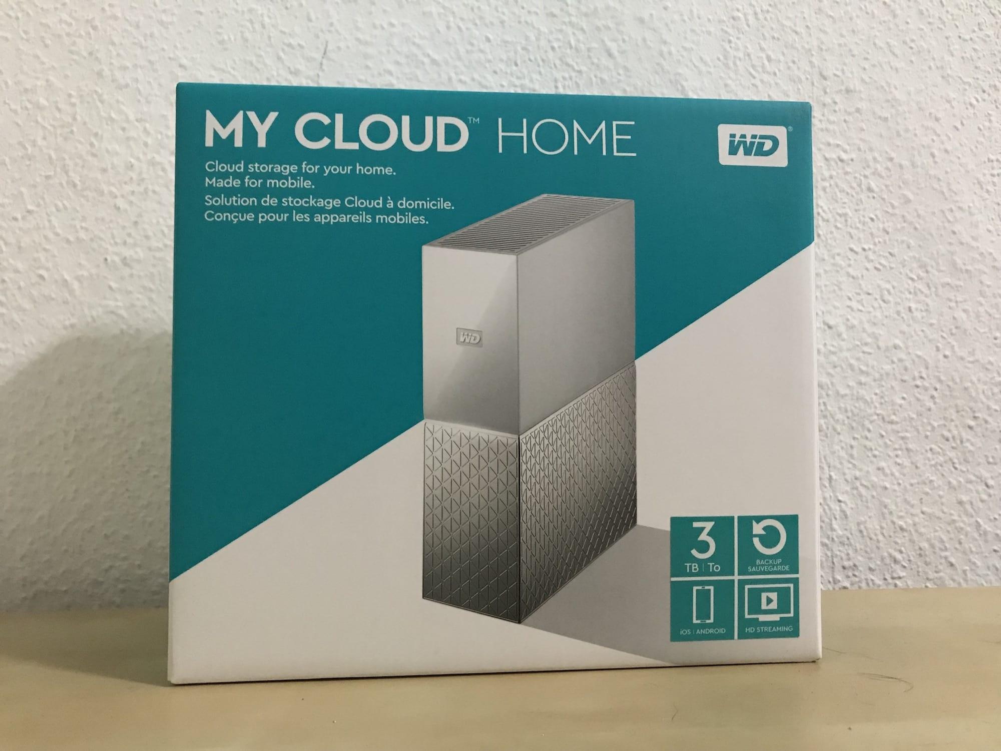 WD MyCloud Home recenzia balenie