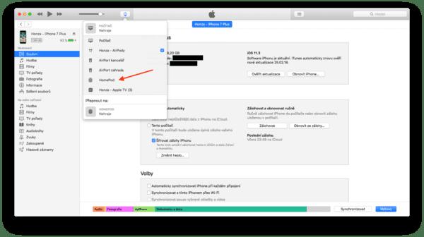 iTunes 600x336 - Jak streamovat audio z Macu do vašeho HomePodu