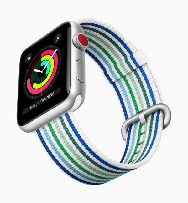 Apple Watch Series3 spring woven bands stripes 032118 600x649 - Apple Watch Series 3 dominujú trhu so smarthodinkami