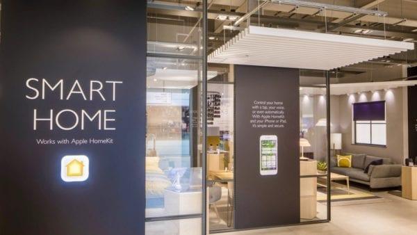 John Lewis homekit 600x338 - V Londýně se dnes otevřela John Lewis, ve které si můžete vyzkoušet Apple HomeKit