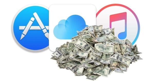 apple services pile of cash macobserver 600x315 - Službám Applu sa darí, najbližších päť rokov budú hlavným motorom príjmov