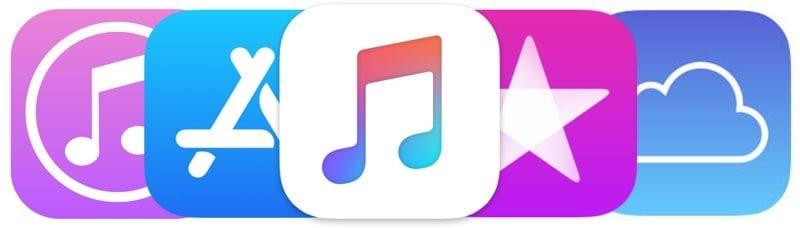 appleservices music itunes appstore icloud 2017 - Službám Applu sa darí, najbližších päť rokov budú hlavným motorom príjmov