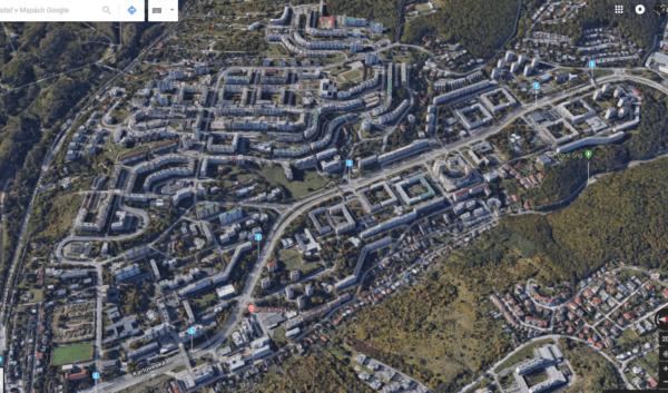 Google Maps Flyover Bratislava