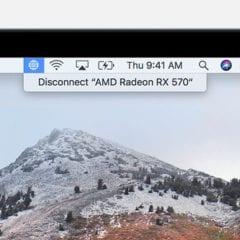 macos high sierra macbook egpu disconnect status bar 240x240 - Apple zverejnil zoznam podporovaných grafických kariet pre eGPU funkcionalitu v High Sierra