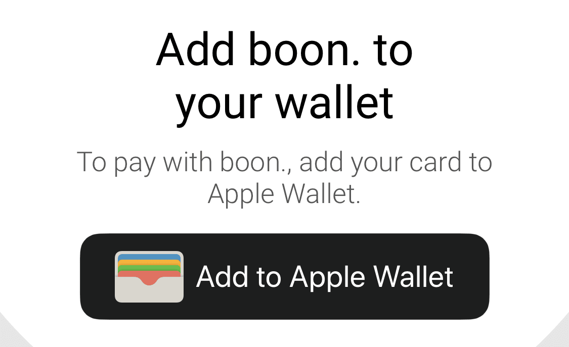 boon add to apple wallet návod