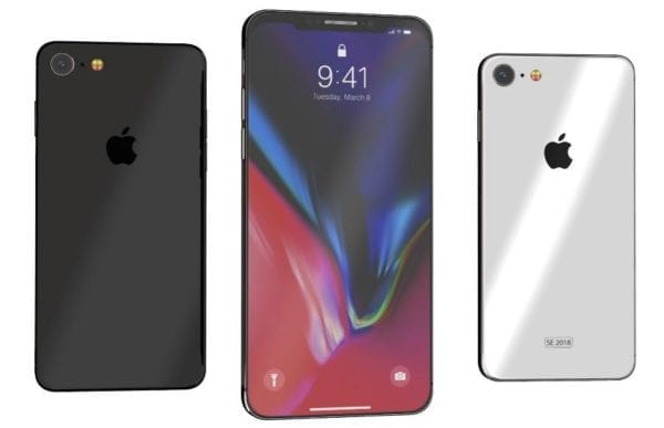 iphone se 2018 mockup 600x387 - Podľa výrobcu obalov bude mať iPhone SE 2 obrovský displej s výrezom na kameru