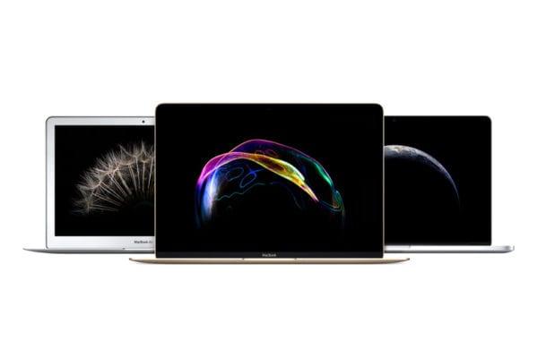 macbook air macbook pro lineup devices 600x400 - Nový MacBook ponúkne Intel Kaby Lake procesor, iPad Pro zas USB-C nabíjačku