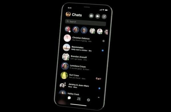 new Messenger dark mode 600x391 - Facebook Messenger dostane zjednodušené rozhranie, tmavú tému a ďalšie novinky