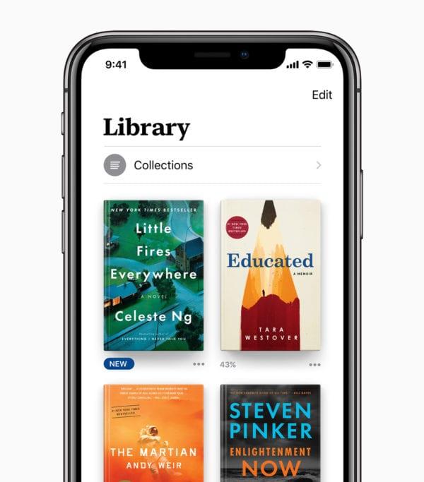 Apple Books Library 06122018 600x683 - Prvý pohľad na nové Apple Books v iOS 12