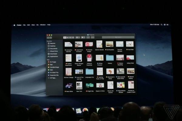 apple WWDC 2018 3494 600x400 - macOS Mojave: redizajnovaný App Store, vylepšený Finder, tmavý mód a nové aplikácie