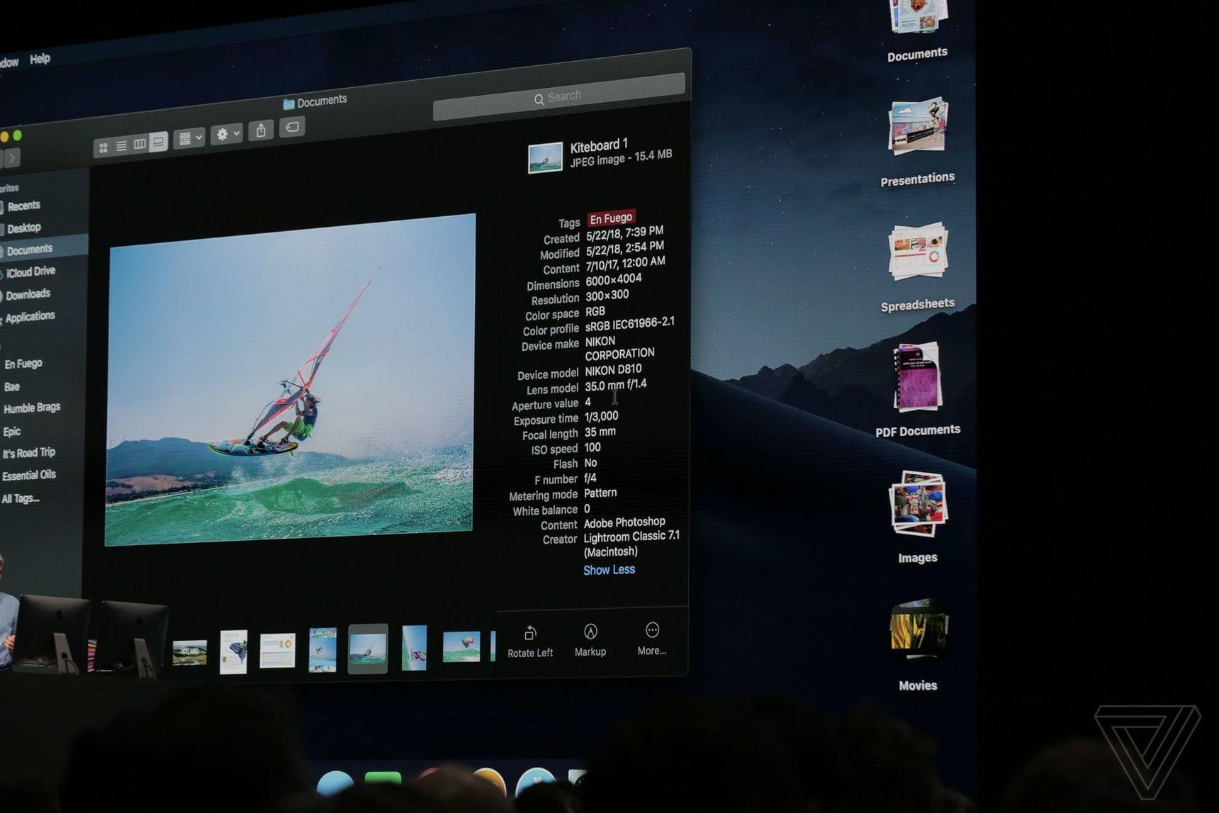 apple WWDC 2018 3554 1 - macOS Mojave: redizajnovaný App Store, vylepšený Finder, tmavý mód a nové aplikácie