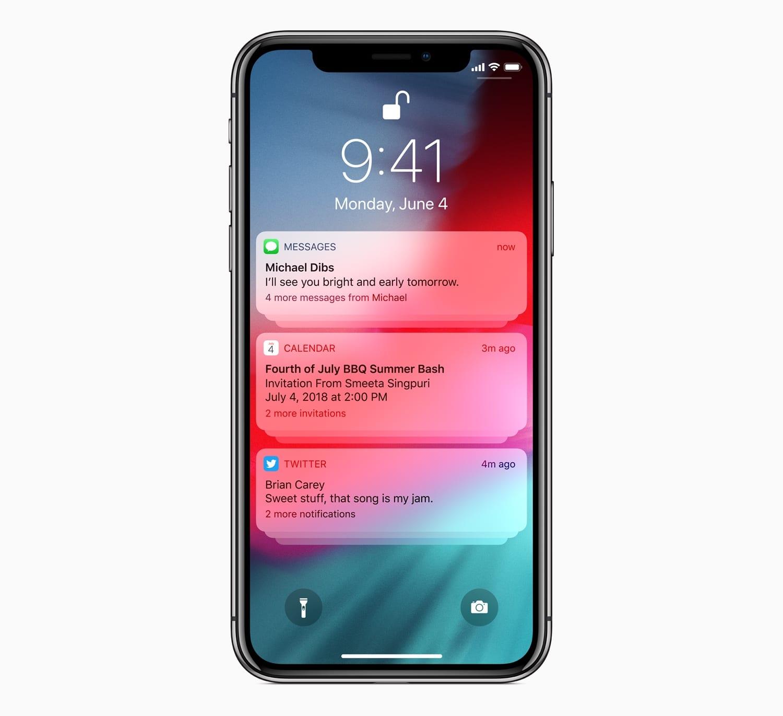 iOS12 Group Notifications 06042018 - Okienko do minulosti: História iOS