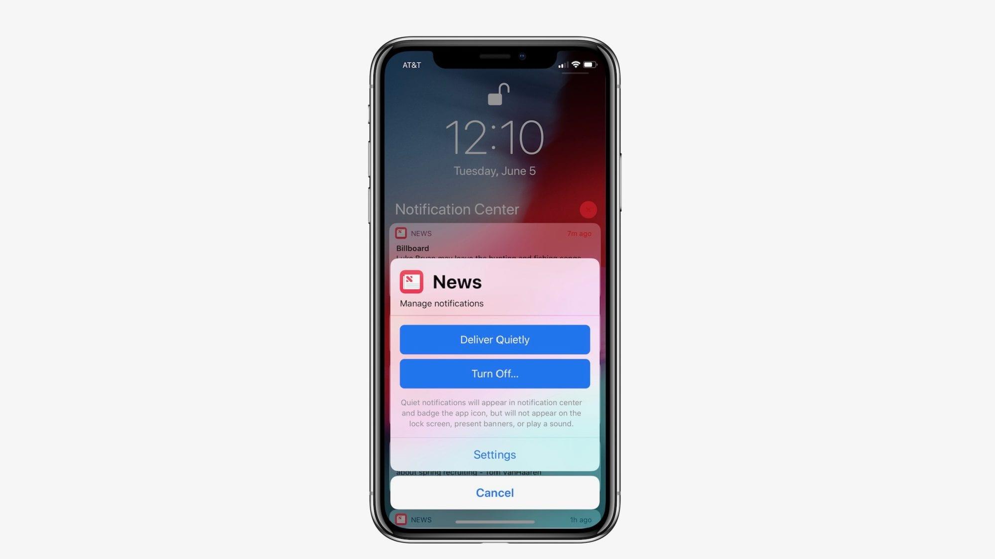 ios 12 quiet notifications - 12 zaujímavých iOS 12 funkcií, ktoré Apple nespomenul