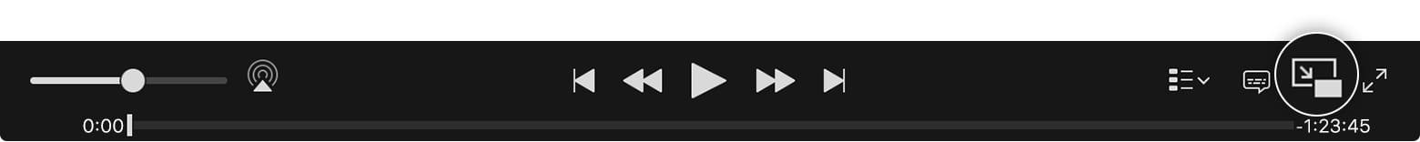 """macos itunes12 5 video playback controls - Ako na Macu používať mód """"Obraz v obraze"""""""