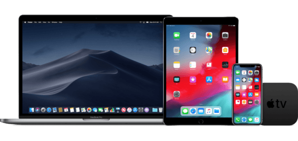macos mojave ios 12 macbook ipad iphone appletv devices 600x284 - Vyšli nové verzie macOS Mojave 10.14.3, watchOS 5.1.3 a tvOS 12.1.2
