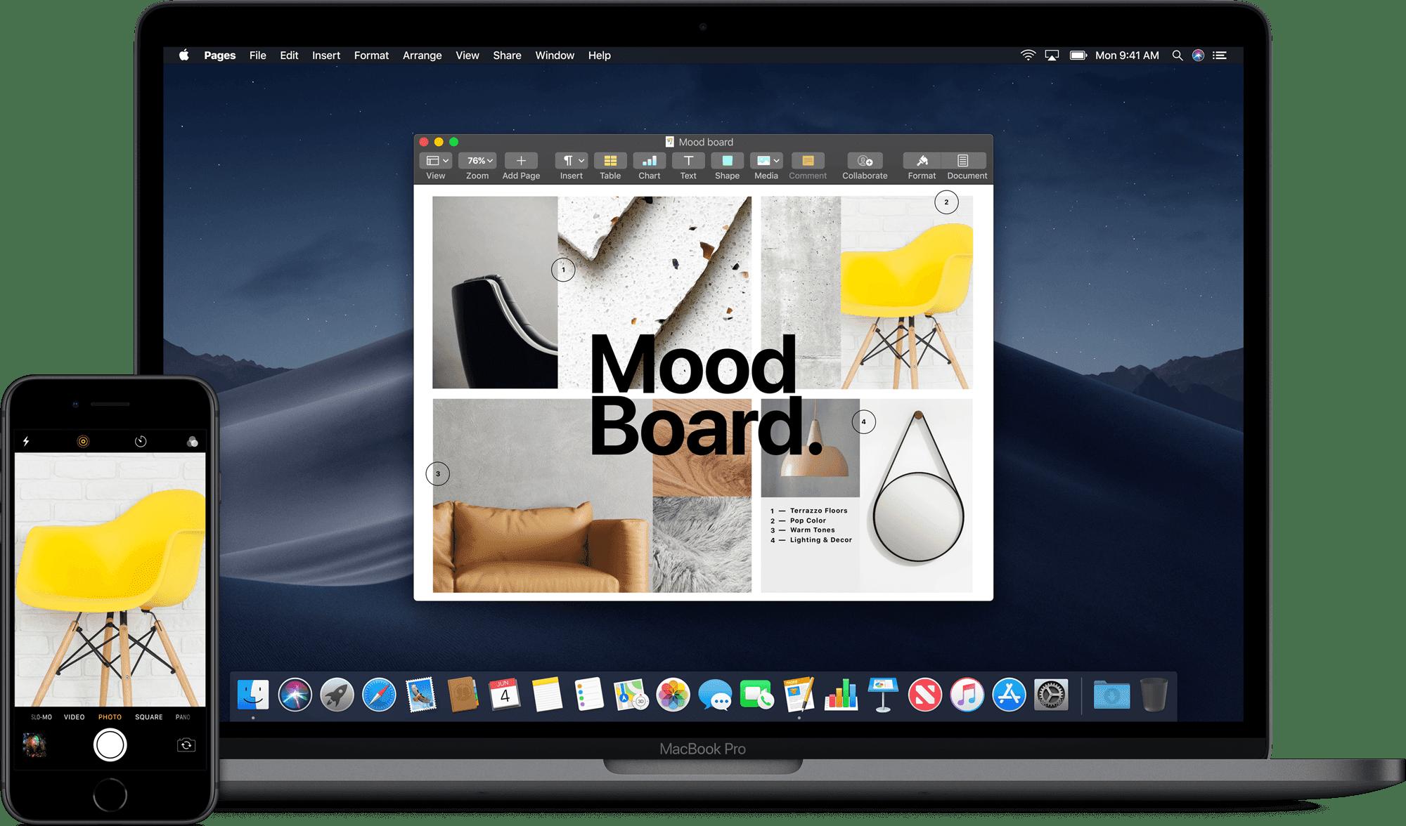 macos mojave macbook iphone - Apple uvoľnil beta verziu macOS Mojave 10.14.1 pre developerov