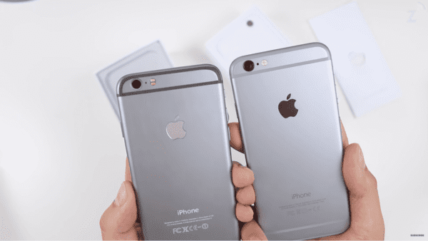 fake iphone 6 logo compare 600x338 - Ako rozpoznať falošný iPhone