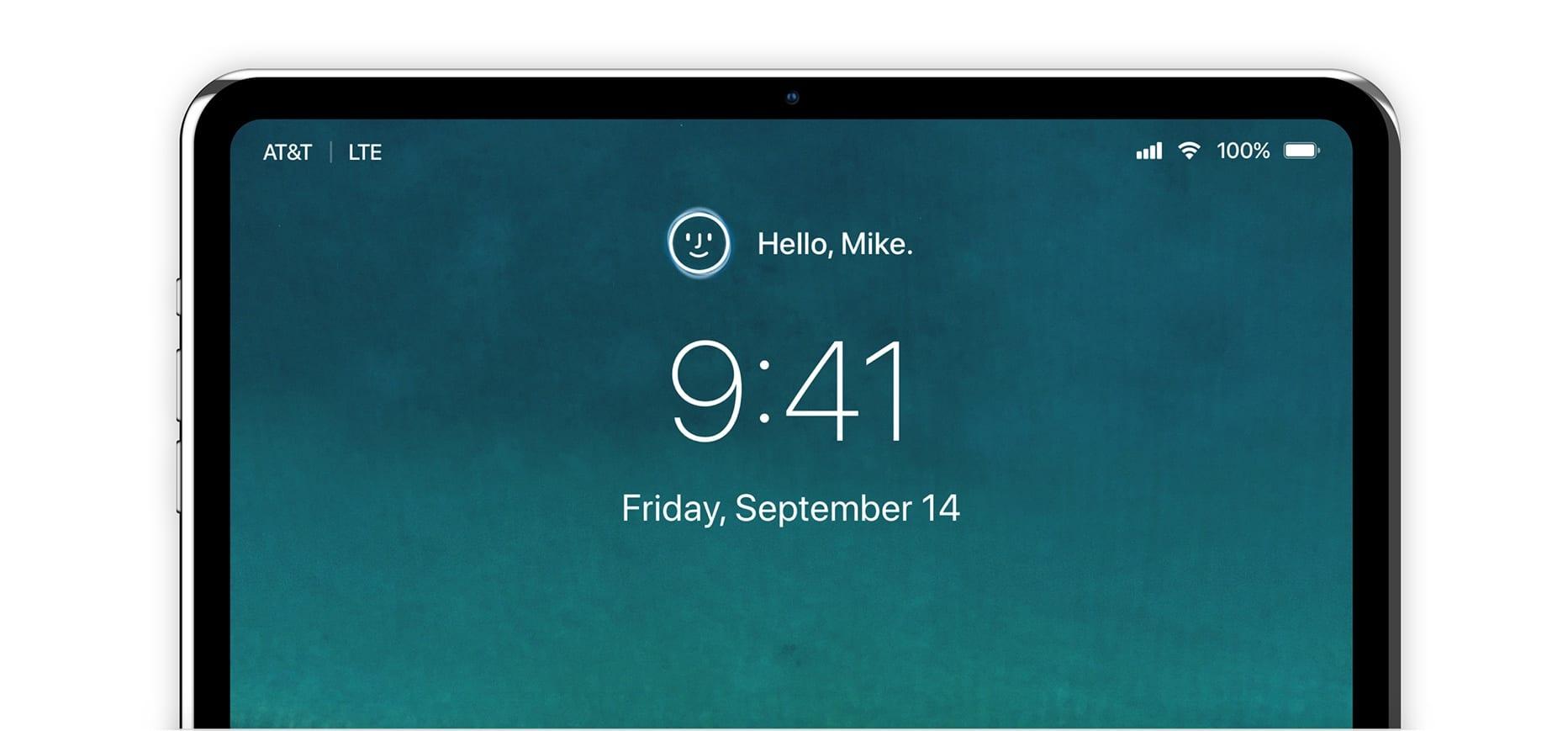 ipad pro 2018 faceid concept alvaro pabesio - Októbrový event: nové iPady, Pencil, MacBook Air, Mac Mini a viac…