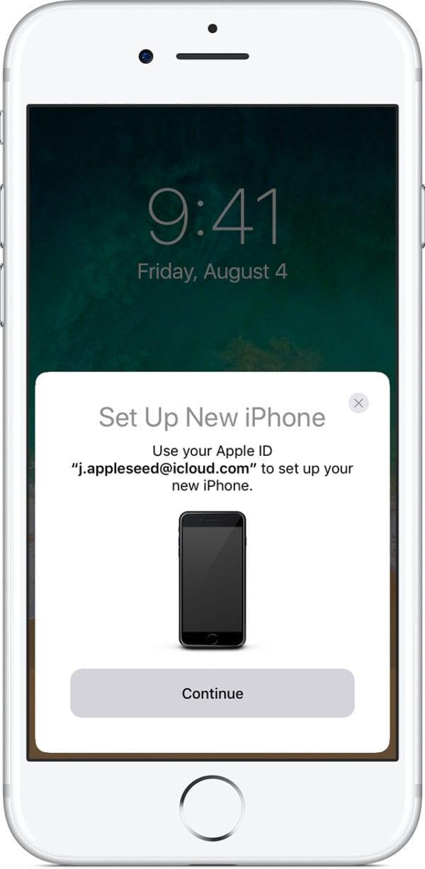 iphone7 ios11 home setup new iphone quick start 600x1226 - Ako si presniesť dáta zo starého zariadenia do nového iPhonu/iPadu/iPodu touch