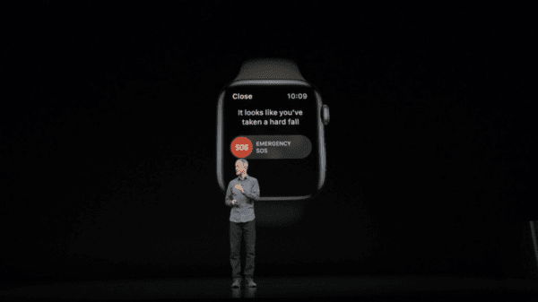 Apple Watch Series 4 SOS Fall