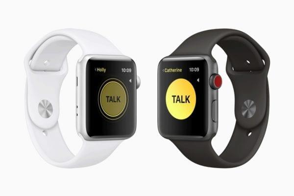 apple watch watchos5 walkie 600x400 - watchOS 5 prináša Walkie-Talkie, Podcasty, nové ciferníky a ďalšie novinky