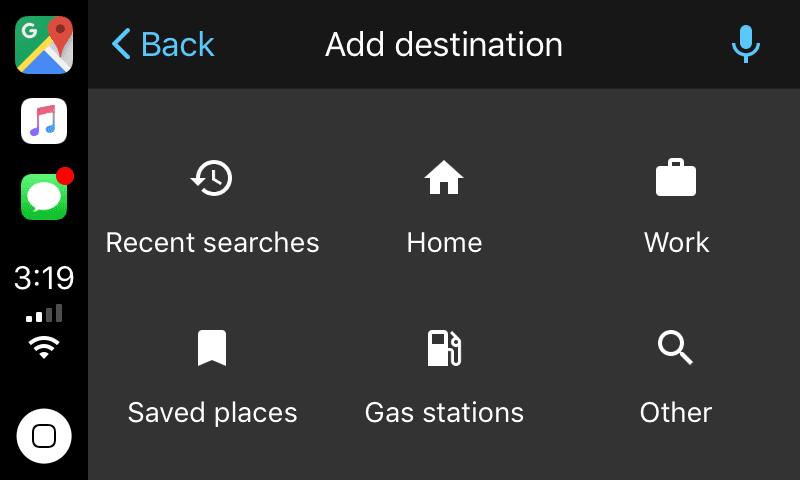 google maps carplay2 - Sygic a ďalšie aplikácie mieria na CarPlay