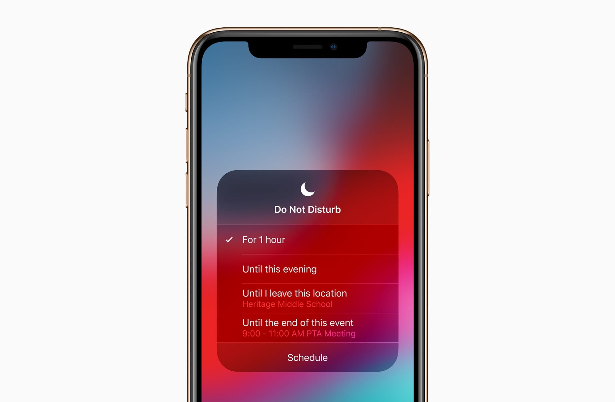 iOS12 iPhoneXs DoNotDisturb 09172018 - Apple vydal iOS 12 s vylepšeniami výkonu, Memoji, Siri Shortcuts a ďalšími novinkami