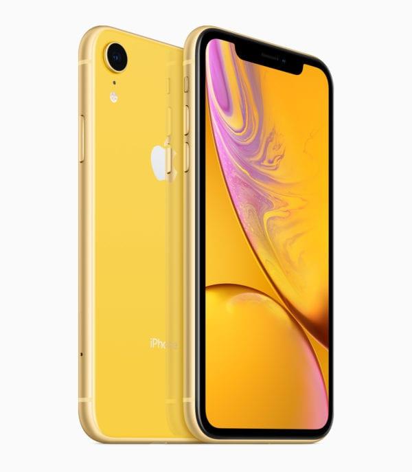 iPhone XR yellow back 09122018 600x687 - Apple predstavil lacnejší, no plne vybavený iPhone XR