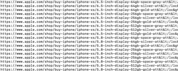 iphone xs colors 600x242 - Ze sitemapy Apple Online Storu se dozvídáme další věci, konkrétně o nových iPhonech