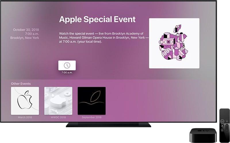 appletvspecialeventupdate 800x498 - Októbrový event: nové iPady, Pencil, MacBook Air, Mac Mini a viac…