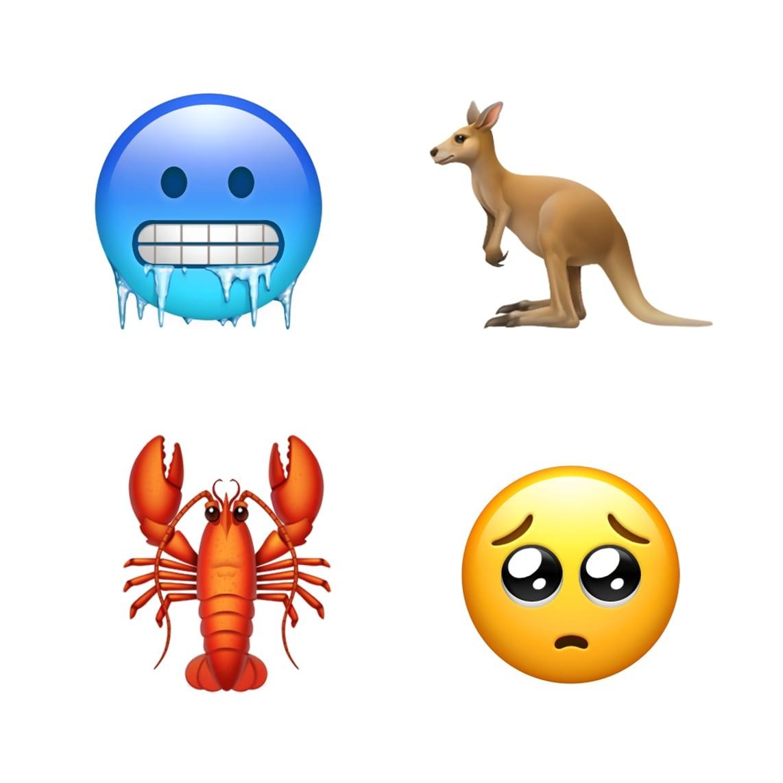 ios 121 emoji update cold kangaroo lobster sad 10012018 - iOS 12.1 prinesie vyše 70 nových emoji, skupinový FaceTime, eSIM a hĺbku ostrosti v reálnom čase