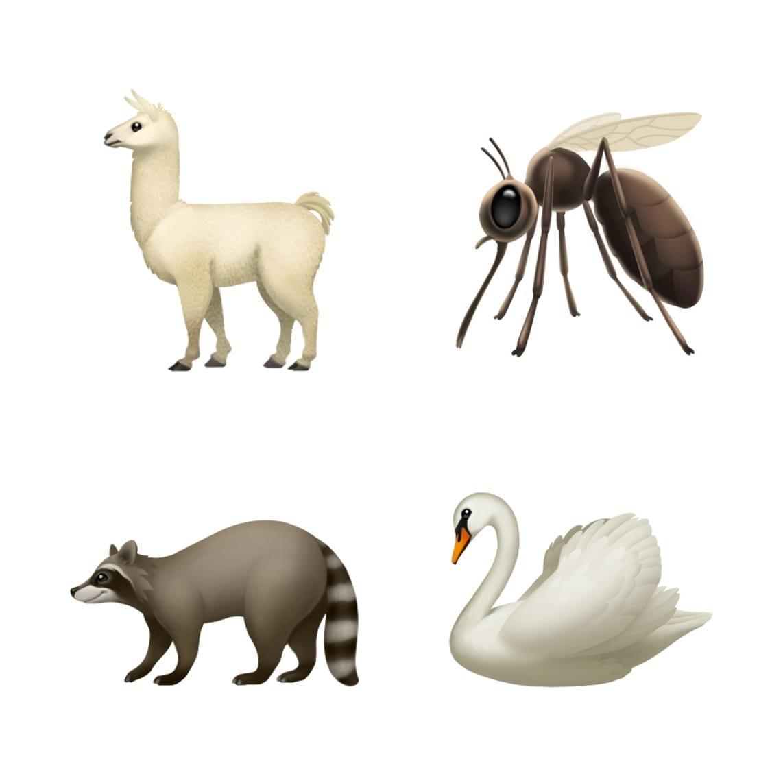ios 121 emoji update llama mosquito swan raccoon 10012018 - iOS 12.1 prinesie vyše 70 nových emoji, skupinový FaceTime, eSIM a hĺbku ostrosti v reálnom čase