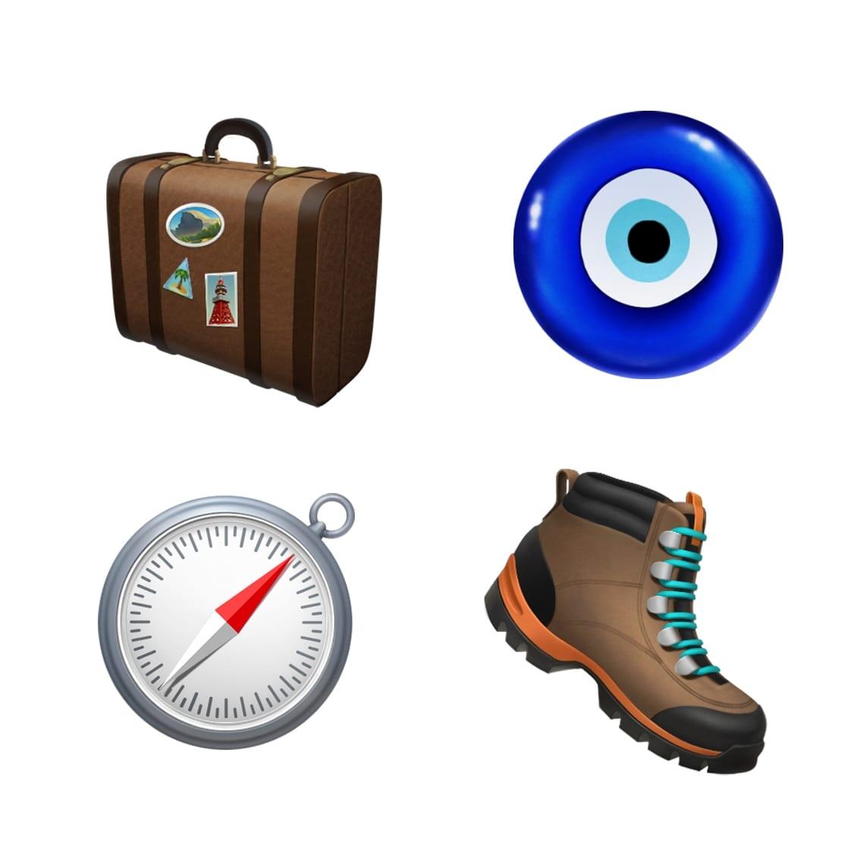 ios 121 emoji update luggage boots compass 10012018 - iOS 12.1 prinesie vyše 70 nových emoji, skupinový FaceTime, eSIM a hĺbku ostrosti v reálnom čase