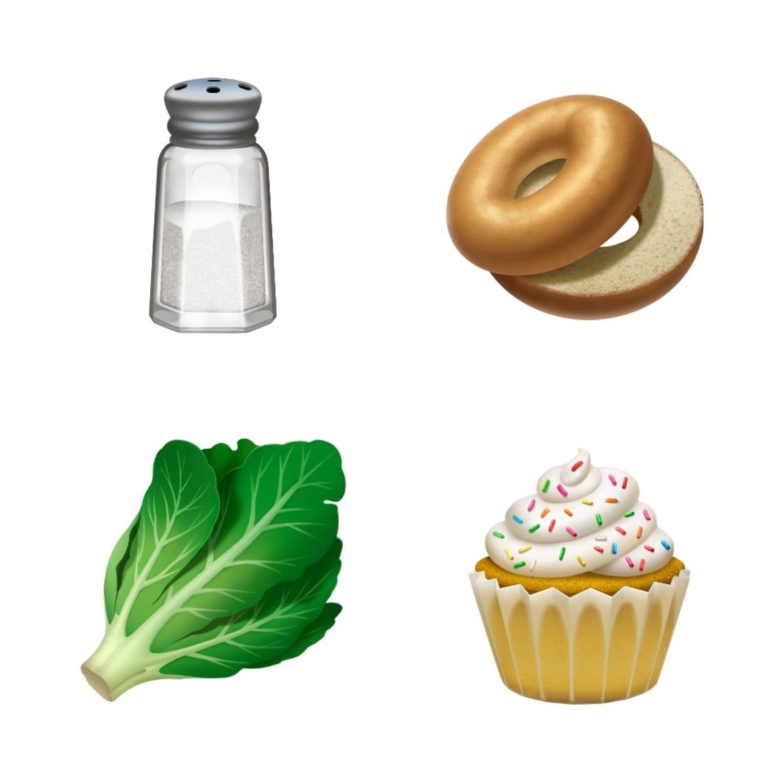 ios 121 emoji update salt lettuce bagel cupcake 10012018 - iOS 12.1 prinesie vyše 70 nových emoji, skupinový FaceTime, eSIM a hĺbku ostrosti v reálnom čase