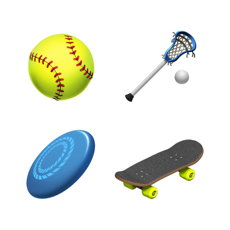 ios 121 emoji update softball lacrosse frizbee skateboard 10012018 - iOS 12.1 prinesie vyše 70 nových emoji, skupinový FaceTime, eSIM a hĺbku ostrosti v reálnom čase