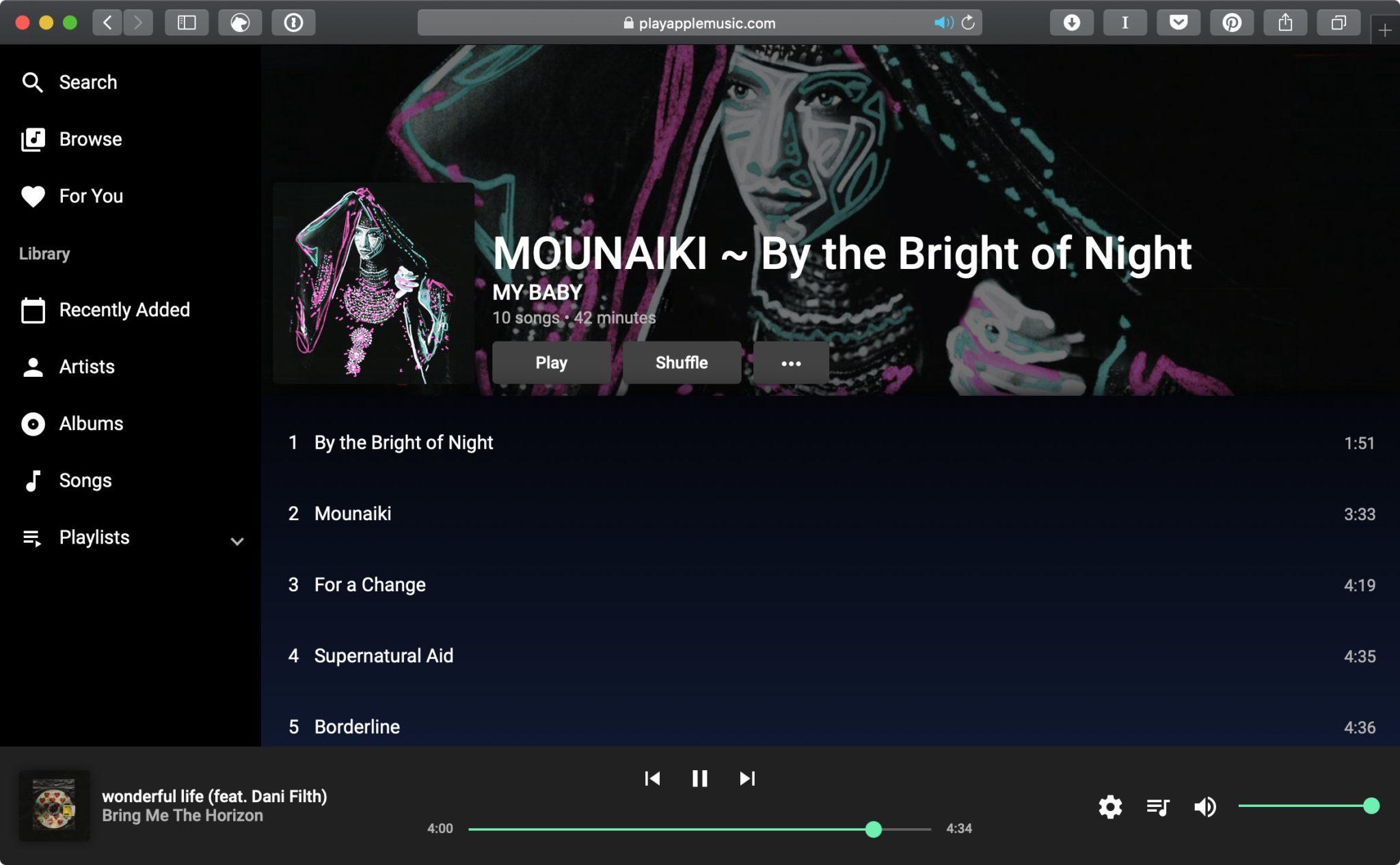 Snímka obrazovky 2018 12 14 o 17.22.38 - Apple Music má teraz webový prehrávač, zatiaľ len neoficiálny