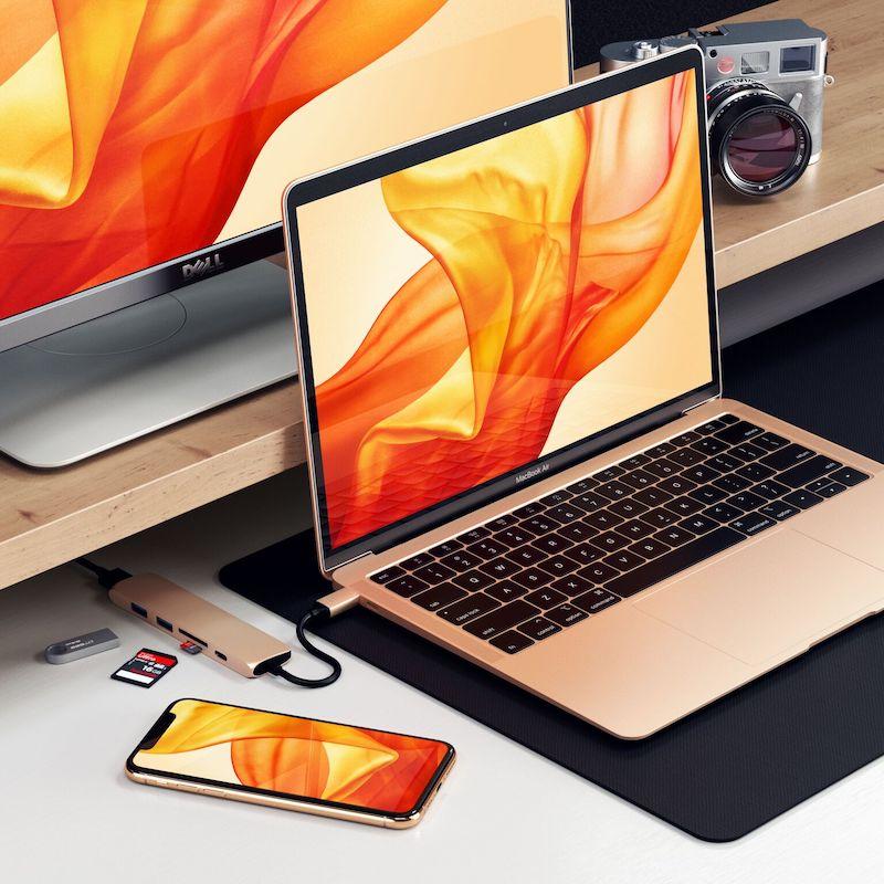 gold satechi usb c hub - Týždeň v skratke: vojna s Qualcommom, Apple modemy a koniec sociálnej siete