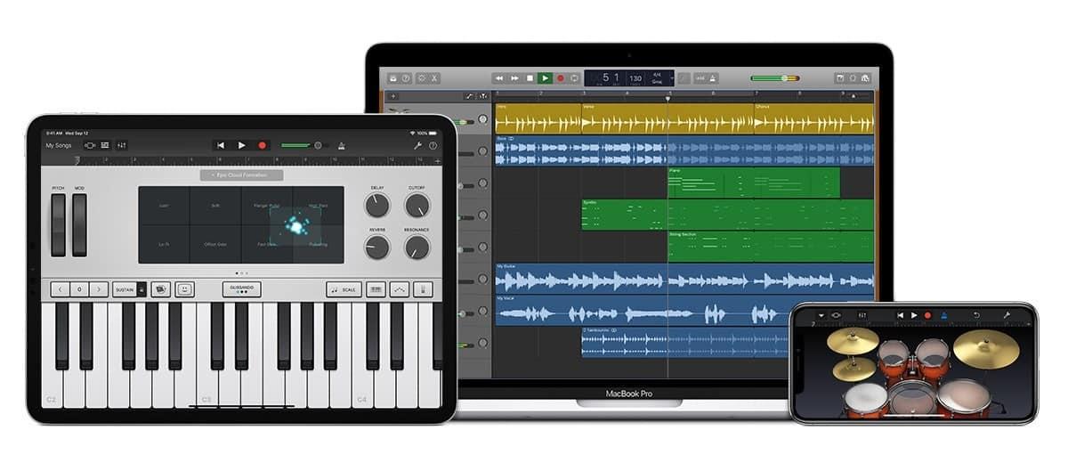 GarageBand Lockup ipad pro devices - Týždeň v skratke: vysoké očakávania, GarageBand počas rokov a nový iPad mini