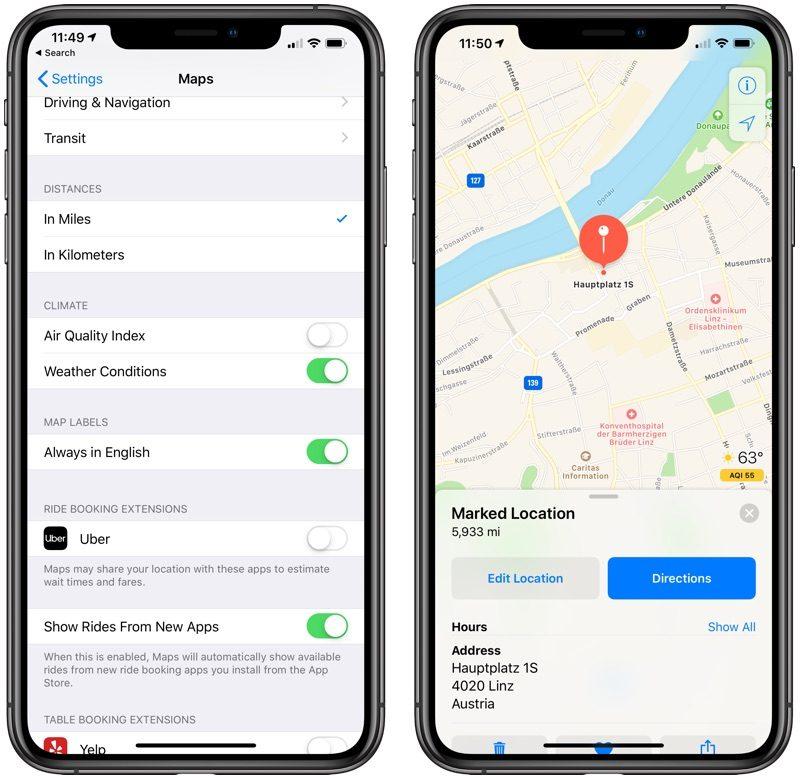 applemapsairquality 800x779 - Čo je nové v prvej bete iOS 12.2  podpora  smart TV eed3556dee8