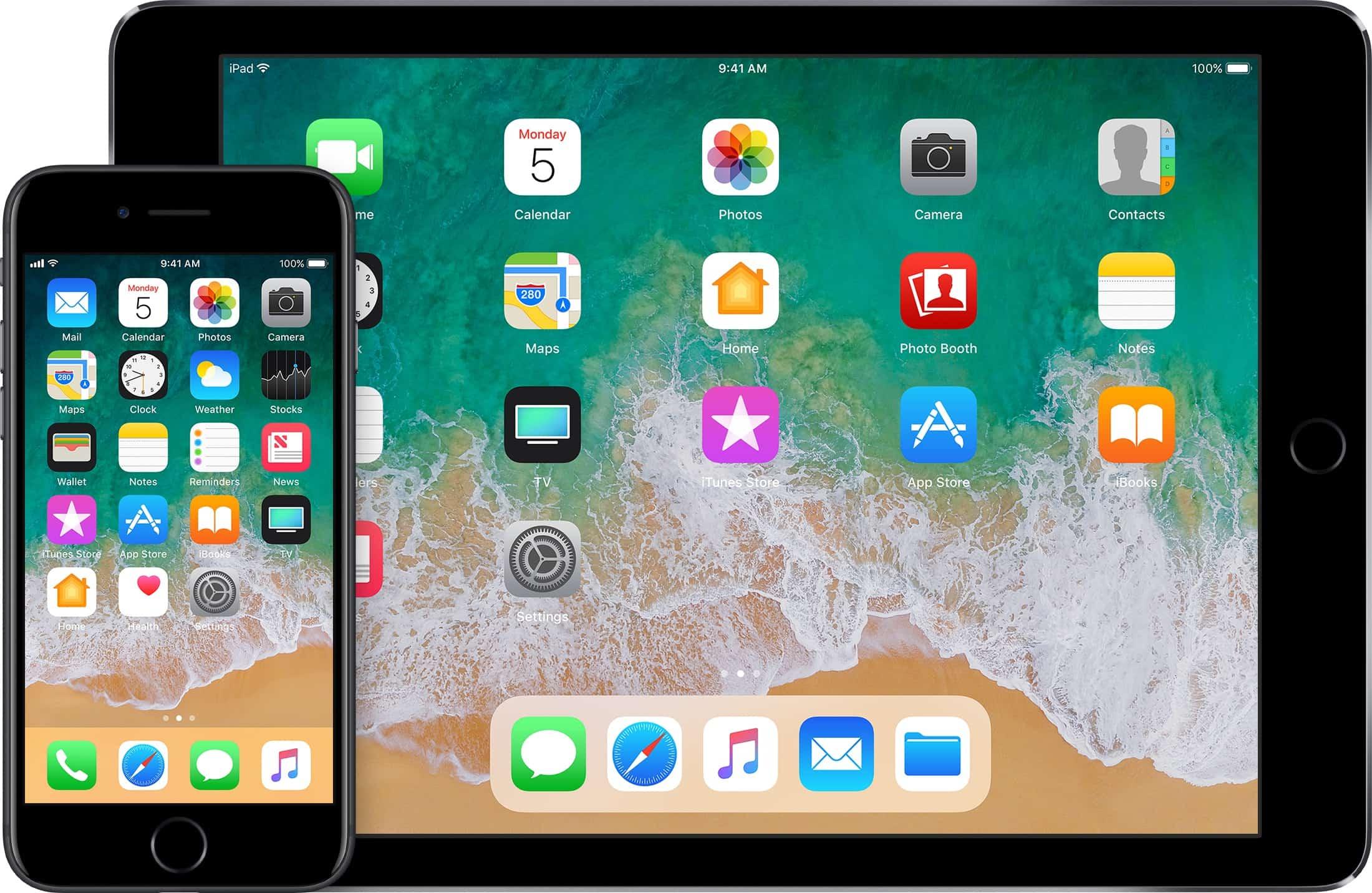 ios 11 home screen iPhone ipad - Okienko do minulosti: História iOS