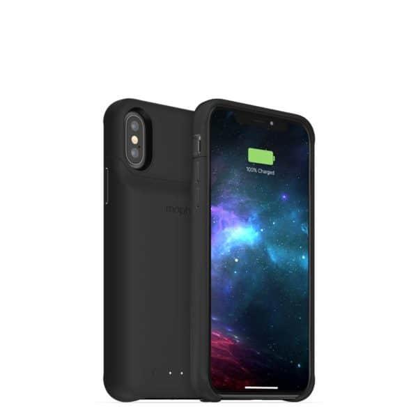 jp acc blk ipxs 3qtr front back left 800px 600x600 - Mophie vydalo kryty pro iPhone XS, XS Max a XR s externí baterií