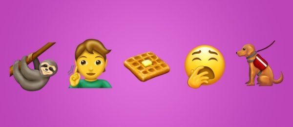 emoji 12 2019 emojipedia sample image collection 600x260 - Nové emoji v roku 2019: zívanie, wafle, cesnak, leňochod a ďalšie