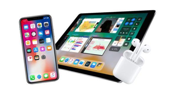 ipad airpods iphone 600x315 - Prvý polrok 2019: nové iPady, nabíjačka AirPower a vylepšené AirPods 2