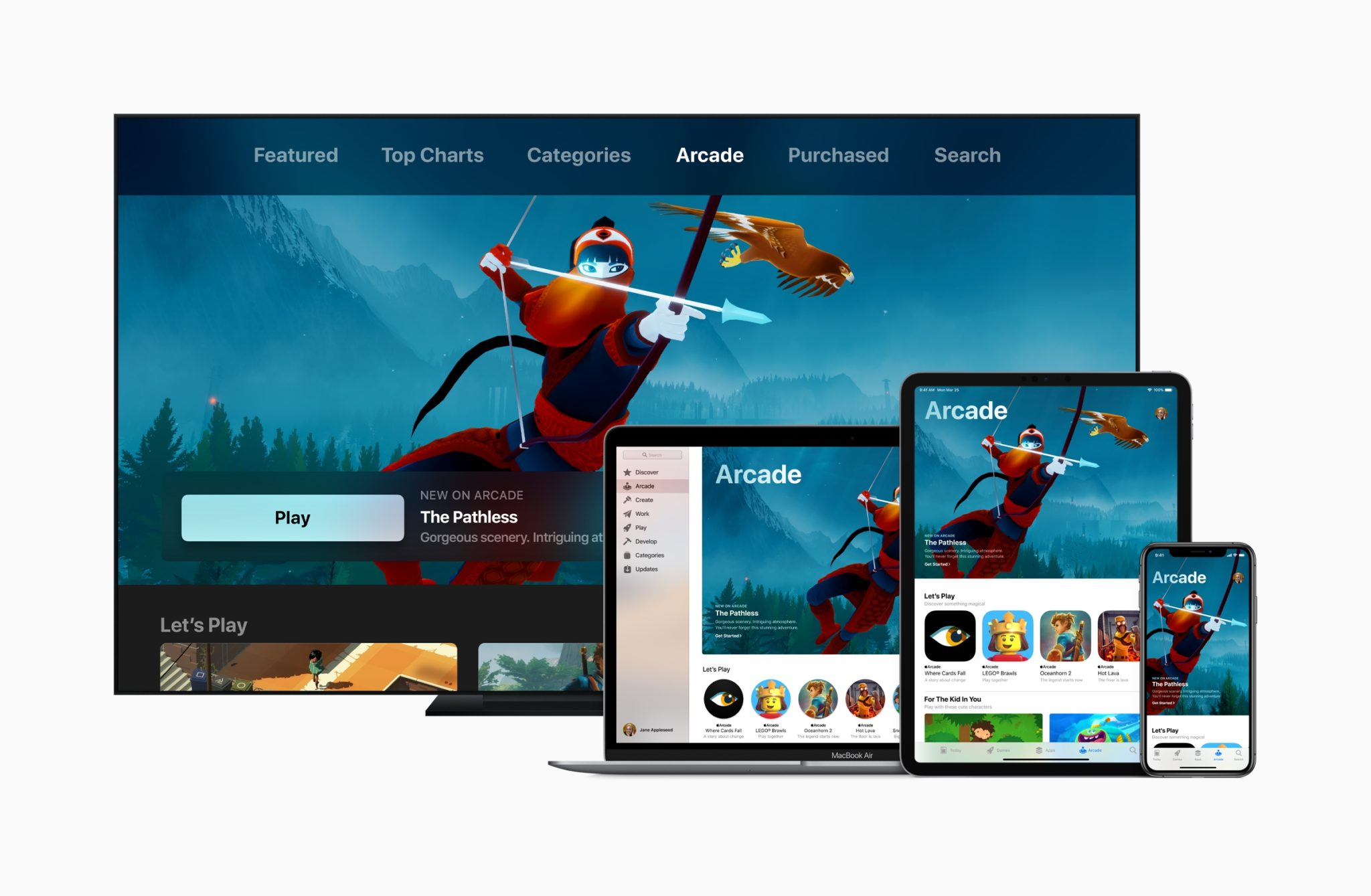Apple introduces apple arcade apple tv ipad pro iphone xs macbook pro 03252019 - Apple predstavil predplatnú hernú službu Apple Arcade