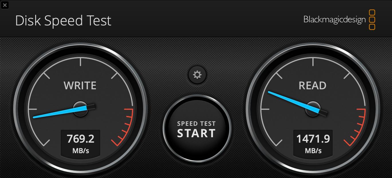 DiskSpeedTest Transcend Internal - Recenzia Transcend JetDrive 855: jednoduchý upgrade SSD v Macu