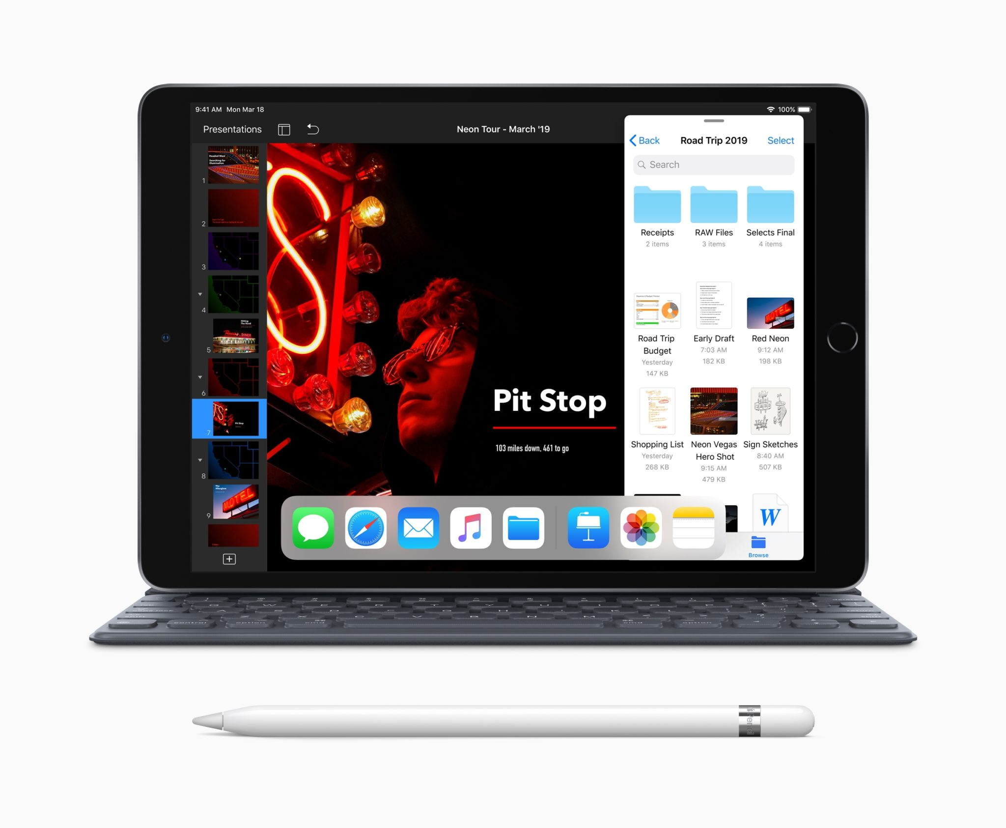 "New iPad Air with Smart Keyboard Apple Pencil 03192019 - Apple predstavil nový iPad Air s 10,5"" True Tone displejom, A12 čipom a Apple Pencil"