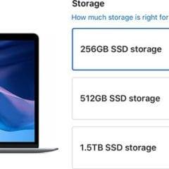 macbookairssdcost 800x283 240x240 - Apple kromě snížení ceny upgradů SSD disků u MacBooků Pro snížil i ceny upgradů u MacBooku Air, Macu Mini a Macu Pro