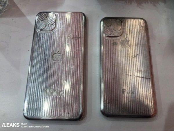 iphone xi and xi max molds 800x600 600x450 - Unikly fotografie, na kterých se údajně ukazují prototypy těl nových iPhonu XI a XI Max
